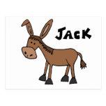 Burro divertido nombrado Jack Postales