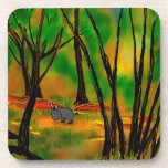 burro en árboles posavaso