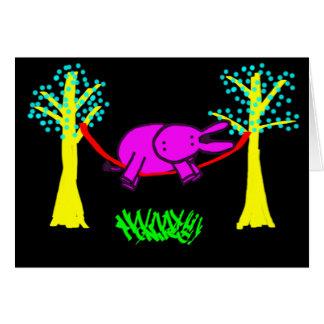 burro en hamaca tarjetas