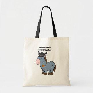 Burro federal del FBI del dibujo animado del burro