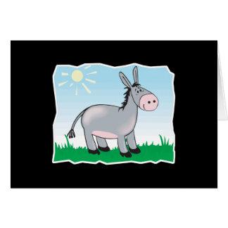 burro feliz lindo tarjeta de felicitación