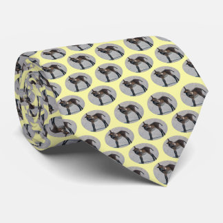 Burro Frenzy (Pale Yellow) Neck Tie