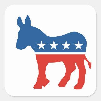 burro los E E U U del fiesta del demócrata de los Calcomania Cuadrada Personalizada