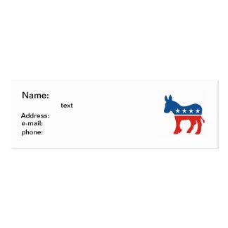burro los E E U U del fiesta del demócrata de los Tarjetas De Negocios