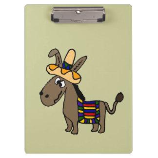 Burro mexicano divertido con la manta colorida