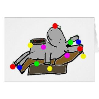 burro napping después de navidad tarjeta