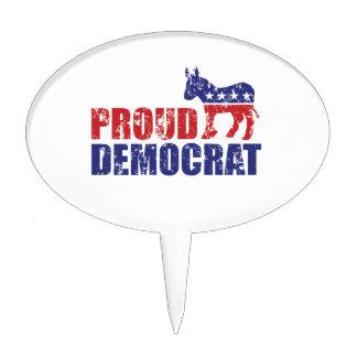 Burro orgulloso de Demócrata apenado Figuras Para Tartas