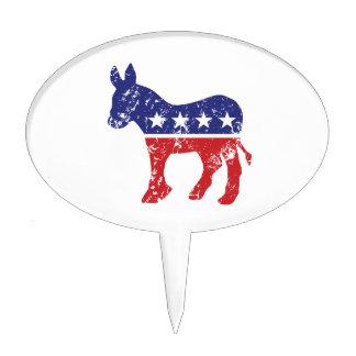 Burro original de Demócrata apenado Decoración Para Tarta
