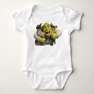 Burro, Shrek, y Puss en botas Body Para Bebé