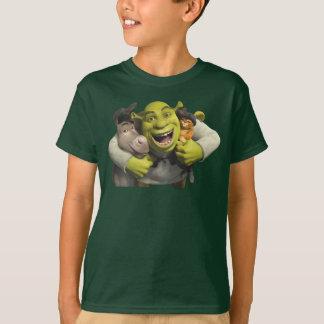 Burro, Shrek, y Puss en botas Playera