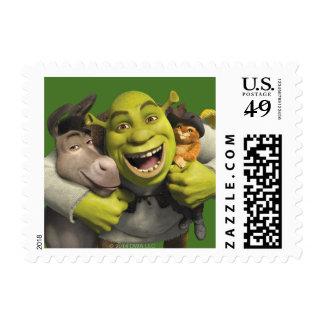 Burro, Shrek, y Puss en botas Sello Postal