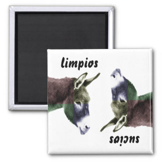 Burro Spanish Clean or Dirty Dishes Dishwasher 2 Inch Square Magnet