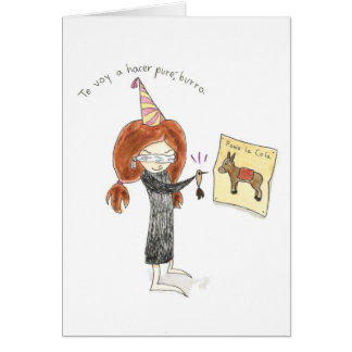 Burro Tarjeta de Cumpleaños Cards