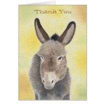 Burro thank you notecard