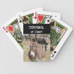 Burro - vaquera - occidental cartas de juego