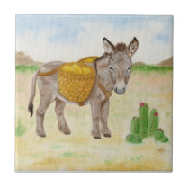 Burro with Basket tile