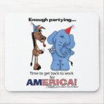 ¡Burro y elefante bastante que van de fiesta! Tapetes De Ratón
