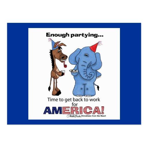 ¡Burro y elefante bastante que van de fiesta! Tarjetas Postales