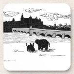 burro y elefante delante del puente posavaso
