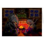 burro y elefante por el fuego tarjeton
