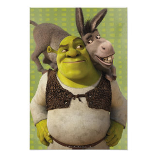 Burro y Shrek Posters