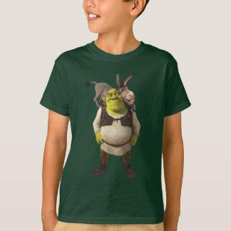 Burro y Shrek Playera