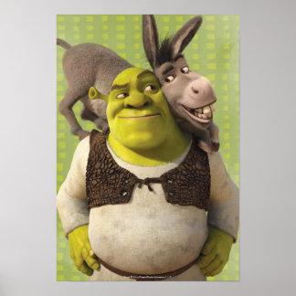 Burro y Shrek Póster