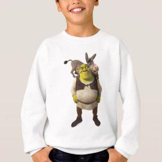Burro y Shrek Sudadera