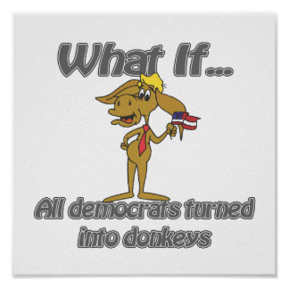 burros de los demócratas póster