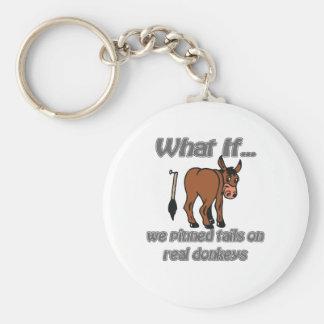 burros reales llavero redondo tipo pin