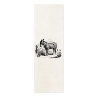 Burros retros personalizados burro nacional del tarjetas de visita mini
