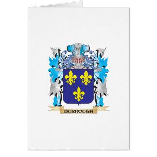 Burrough Coat of Arms Greeting Card