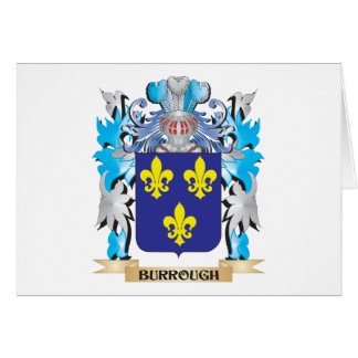 Burrough Coat of Arms Stationery Note Card