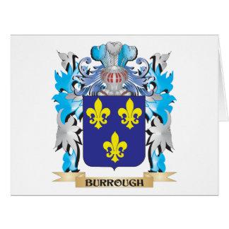 Burrough Coat of Arms Large Greeting Card