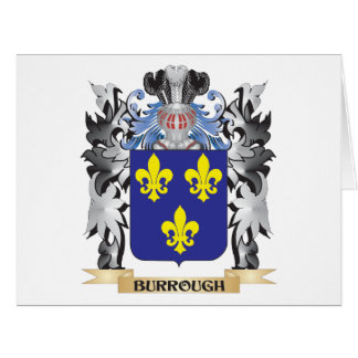 Burrough Coat of Arms - Family Crest Large Greeting Card