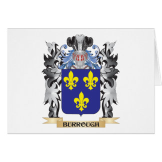 Burrough Coat of Arms - Family Crest Stationery Note Card
