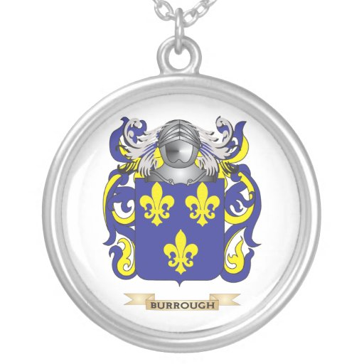 Burrough Coat of Arms (Family Crest) Custom Jewelry