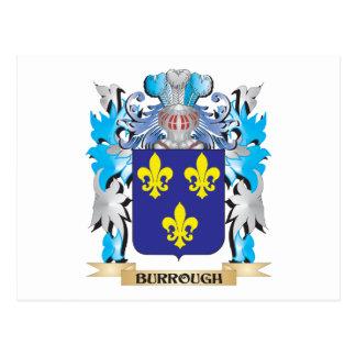 Burrough Coat of Arms Postcard