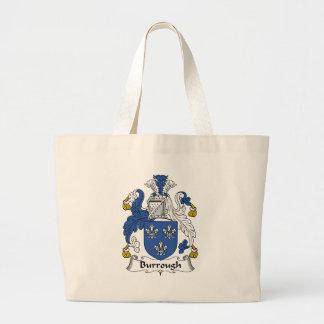 Burrough Family Crest Canvas Bag