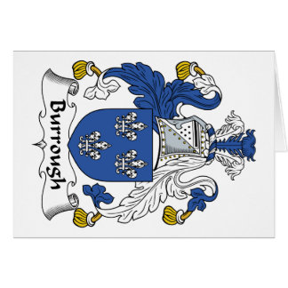 Burrough Family Crest Greeting Card