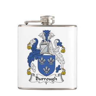 Burrough Family Crest Flask
