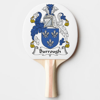 Burrough Family Crest Ping-Pong Paddle