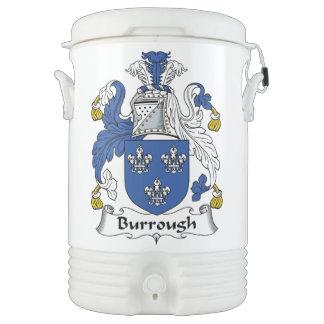 Burrough Family Crest Igloo Beverage Dispenser