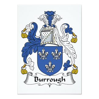 Burrough Family Crest 5x7 Paper Invitation Card
