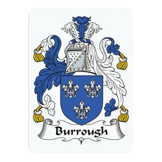 Burrough Family Crest Card