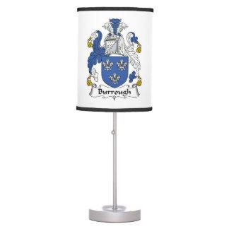 Burrough Family Crest Table Lamps