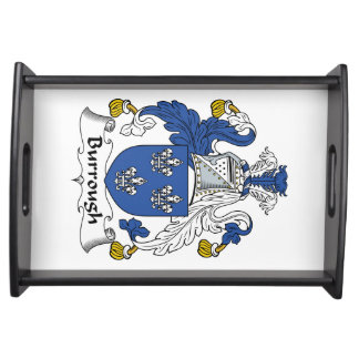 Burrough Family Crest Service Tray