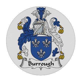Burrough Family Crest Set Of Poker Chips