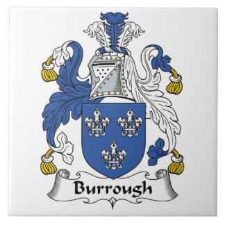 Burrough Family Crest Ceramic Tile