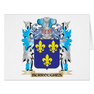 Burroughes Coat of Arms Large Greeting Card